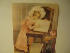 Victorian Style Photo - Print Little Girl drawing