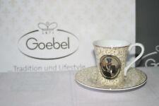 Goebel Porzellan Mocca Expresso Tasse mit Untertasse Kaffe Set Thierry Poncelet