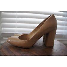 VIA SPIGA Nude Patent Leather Block Heel Pumps Size 7 (38)