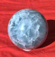 1520g 99mm NATURAL SKY BLUE CELESTITE CRYSTAL sphere ball Healing A2380