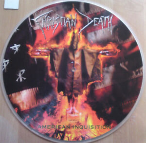 """CHRISTIAN DEATH """"AMERICAN INQUISITION"""" PICTURE LP, NEW! GOTH ROCK-NEW WAVE-DARK"""