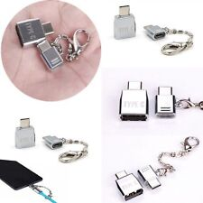 Micro USB 2.0 Female to USB 3.1 Type C Male Converter USB-C OTG Adapter Metal