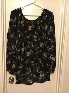 Jendi Size 16 Long Sleeved Peasant Style Top