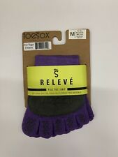 ToeSox Women's Releve Full Toe Grip SOCKS Purple M NWT dance yoga ballet pilates