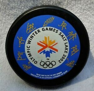 Olympic Winter Games Salt Lake 2002 Lindsay  Rare NHL Collector Hockey Puck