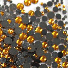 Assorted strass TOPAZ GOLD glass hotfix s06 + s10 + s16 + s20 n°(114)
