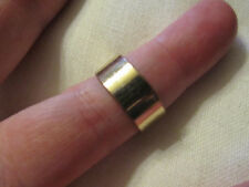 Gold Tone Plain Band Ring in Size Q (UK)