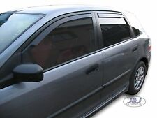 DHO17124 Honda Civic mk7 Hatchback 2001-2005 wind deflectors 4pc set TINTED HEKO