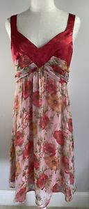 Image - Red Floral Dress - Size 14 - BNWT