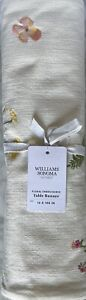 """Williams-Sonoma Floral Embroidered Table Runner 16"""" X 108"""""""