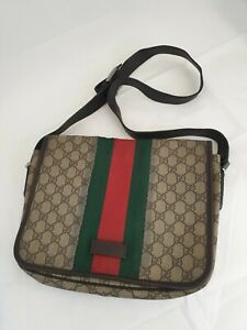 Authentic Gucci Vintage Crossbody Shoulder Canvas GG Supreme Bag code 180692