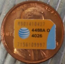 At&T Att Nano Sim Card - iPhone X 8 7 6s 6 Plus 5 5c 5s Se - Pass Setup Screen