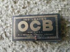 Vintage nos R.J Reynolds Tobacco Company OCB Cigarette Rolling Paper Book 1940's