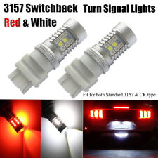 2pcs 3157 Switchback LED Lights T25 Red/White Dual Color Bulbs CANBUS Error Free