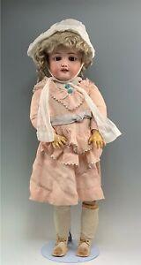 "Antique German 28"" Bergmann Simon & Halbig Bisque Doll"