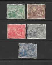 1922 King George V SG218 to SG223 set of 5 Stamps Used TRINIDAD & TOBAGO