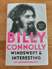 More details for billy connolly signed windswept and interesting first edition book (1) *coa*