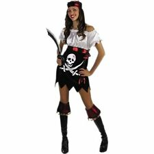 Pin Up Pirate Teen Costume, Halloween Pirates Costume Dress Up