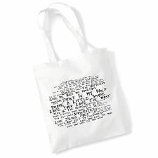 Art Studio Tote Bag ERIC CHURCH Lyrics Print Album Poster Gym Beach Shopper Gift