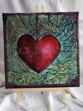 Abstract Original Fluid Art Painting..Acrylic Hand Painted 12x12 Canvas Resin,