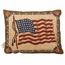 "OL' GLORY American Flag Small Burlap Pillow, 10.5"" x 8.5"", Country House"