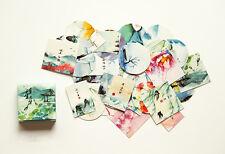 1 box 40 PCS China landscape painting diary Scrapbooking sealing label stickers