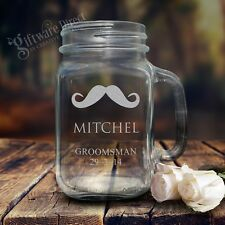 Personalised Engraved Mason Jar Drinking Glass Redneck Mug Wedding Gift Bridal