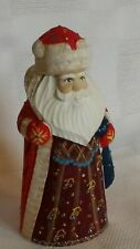 Stunning Holiday Santa Hand Carved/Painted Home Decor