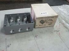"Mulberry Aluminum 3 Gang Weatherproof Box Cat #30601 7- 3/4"" Hubs (NIB)"