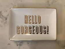 Hello Gorgeous Decorative Glass Dish Jewelry Soap Decor Trinket Tray