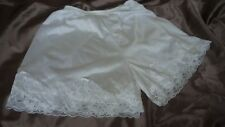 White vintage silky nylon & lace briefs french knickers panties