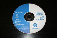NEW HOLLAND 474 489 492 1465 HAYBINE MOWER-CONDITIONER SERVICE REPAIR MANUAL