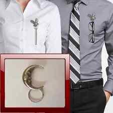 Moon R122 Pewter Pin Brooch Drop Hoop Holder For Glasses,Pen,Jewellery