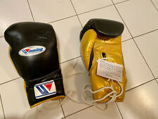 Winning Boxing Gloves 16oz 16 oz Black Gold Yellow Lace Up MS 600 MS-600
