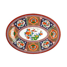"Thunder Group 2008Tp 8"" x 6"" Peacock Pattern Melamine Oval Platter - 1 Doz"