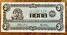 RARE! CANADA RONA 3 CENTS CASH PREMIUM COUPON - UNC CRISP!!