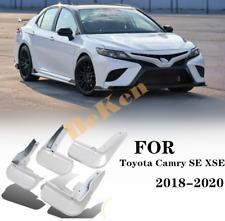 4pcs white Splash Guards Mud Flaps Mud Guards For 2018-2020 Toyota Camry SE XSE