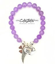 Love Hope Faith Friends Pinky Promise Angel Wings Clover Charm Bracelet Gift