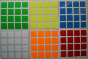 Magic Cube Stickers 4x4 62mm Shengshou Bright Fluo Colours