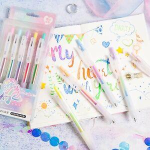 Set of 5 Rainbow Gel Pens,Colour change Gel Pen,Pastel Gel Pens,Gel Pens
