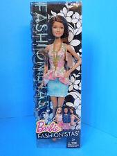 Barbie Fashionistas Teresa Doll Life in the Dreamhouse 2014 Denim Skirt New