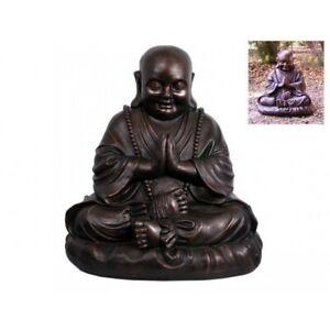 52cm Bronze Happy Praying Buddha Fat Lucky Chinese Style
