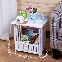 Oval PVC Plastic Mini Coffee Tea Table Home Living Room Storage Rack Bedside