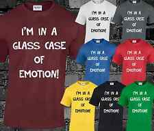 Im In a Glass Case Of Emotion Mens T Shirt Funny Anchorman Top Burgundy Slogan
