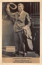 Advertising Sample RPPC William Will Rogers High-Gloss Studios Chicago IL~114999