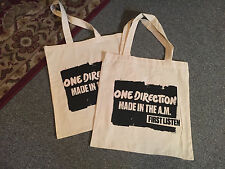One Direction Tote Bag Made in the A.M. First Listen New Rare Two / 2 Bags! OOP