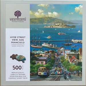 Wentworth Wooden Jigsaw Puzzle - Hyde Street View, San Francisco - 500 Pieces