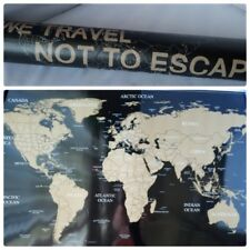 NEW Scratch Off World Map Travel Large Poster USA Flag Edition + Scratch Tools