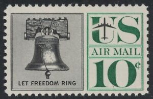 Scott C57- Liberty Bell- MNH 10c 1960- unused mint Airmail stamp