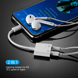 8 Pin to 3.5mm Splitter AUX Adapter Headphone Jack For iPhone 7 8 Plus X XS